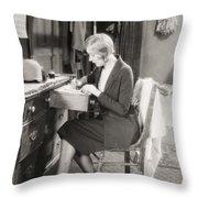 SILENT FILM STILL: WOMAN Throw Pillow by Granger