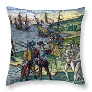 Christopher Columbus Throw Pillow by Granger