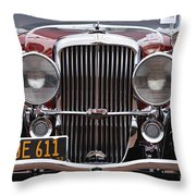 1933 Duesenberg Model J - D008167 Throw Pillow by Daniel Dempster