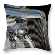 1936 Ford - Stainless Steel Body Throw Pillow by Jill Reger