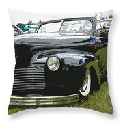 1940 Chevy Convertable Throw Pillow by Steve McKinzie