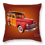 1947 Woody Throw Pillow by Jim Carrell