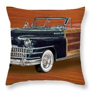 1948 Chrysler Town And Country Throw Pillow by Jack Pumphrey