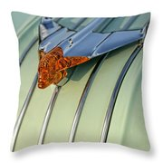 1954 Pontiac Chieftain Hood Ornament Throw Pillow by Gordon Dean II