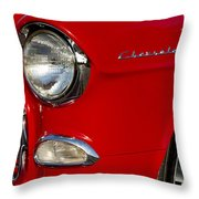1955 Chevrolet 210 Headlight Throw Pillow by Jill Reger