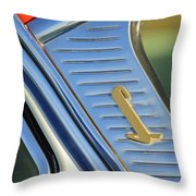 1955 Lincoln Capri Emblem Throw Pillow by Jill Reger
