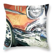 1957 Chevy Throw Pillow by Steve McKinzie