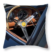 1963 Apollo Steering Wheel     Throw Pillow by Jill Reger