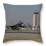 An F-16 Fighting Falcon Takes Throw Pillow by HIGH-G Productions