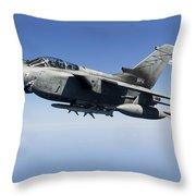 An Italian Air Force Tornado Ids Throw Pillow by Gert Kromhout