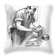 Bank Panic, 1873 Throw Pillow by Granger