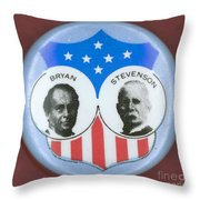 BRYAN CAMPAIGN BUTTON Throw Pillow by Granger