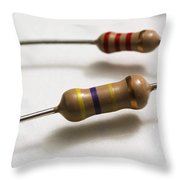 Carbon Film Resistors Throw Pillow by Photo Researchers, Inc.