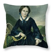 Charlotte Bront� Throw Pillow by Granger
