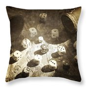 Dice Throw Pillow by Joana Kruse