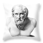 DIOGENES (d. c320 B.C.) Throw Pillow by Granger