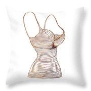 Fashion Sketch Throw Pillow by Frank Tschakert