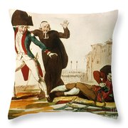FRENCH REVOLUTION, 1792 Throw Pillow by Granger