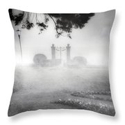 Gateway To The Lake Throw Pillow by Joana Kruse