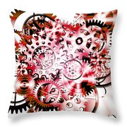 Gears Wheels Design  Throw Pillow by Setsiri Silapasuwanchai