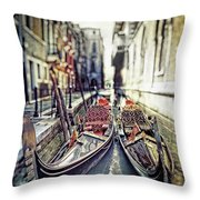Gondolas Throw Pillow by Joana Kruse