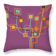 Graphic Tree Pattern Throw Pillow by Setsiri Silapasuwanchai