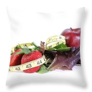 Healthy Diet Throw Pillow by Photo Researchers, Inc.