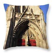 Heinz Chapel Doors Throw Pillow by Thomas R Fletcher