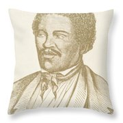 Henry Box Brown, African-american Throw Pillow by Photo Researchers