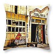 Junk Company Throw Pillow by Scott Pellegrin