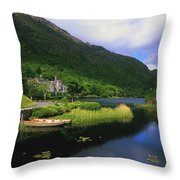Kylemore Abbey, Co Galway, Ireland Throw Pillow by The Irish Image Collection