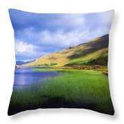 Kylemore Lake, Co Galway, Ireland Lake Throw Pillow by The Irish Image Collection