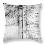 Madison: Account Book Throw Pillow by Granger