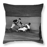Maury Wills (1932- ) Throw Pillow by Granger