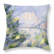 Mont Sainte-victoire Throw Pillow by Paul Cezanne