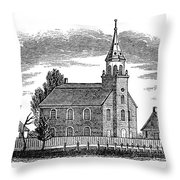 New Jersey: Church, 1844 Throw Pillow by Granger