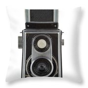 Old Camera Throw Pillow by Michal Boubin
