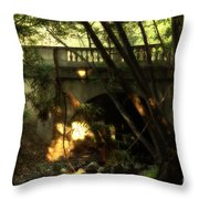 Pedestrian Bridge And Strawberry Creek  . 7d10132 Throw Pillow by Wingsdomain Art and Photography