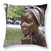 PHILLIS WHEATLEY Throw Pillow by Granger