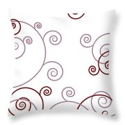 Pink And Red Abstract Throw Pillow by Frank Tschakert