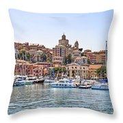 Porto Maurizio - Imperia Throw Pillow by Joana Kruse