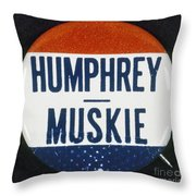 Presidential Campaign, 1968 Throw Pillow by Granger
