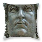 Rome Italy. Capitoline Museums Emperor Marco Aurelio Throw Pillow by Bernard Jaubert