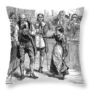 Salem Witch Trial, 1692 Throw Pillow by Granger