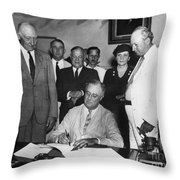Social Security Act, 1935 Throw Pillow by Granger