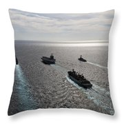 The Enterprise Carrier Strike Group Throw Pillow by Stocktrek Images