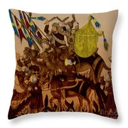 Turkish Muslims The Crusades Throw Pillow by Photo Researchers
