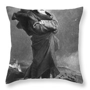Victor Hugo, French Author Throw Pillow by Photo Researchers