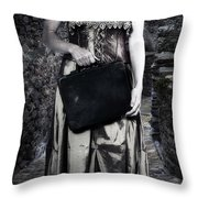 Woman In Alley Throw Pillow by Joana Kruse
