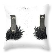 Magnetism Throw Pillow by Photo Researchers, Inc.